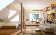 51 photos pour trouver le meilleur aménagement de combles! Loft Conversion Design, Mattress, Uk Homes, Bedroom, Bed, Cabin, Home Decor, Furniture, Loft Bed