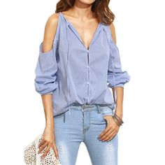 MUQGEW women T-shirt long sleeves strapless strapless V-neckband fashion trend female T-shirt
