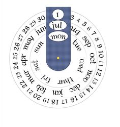Crafty Sue: My Christmas Gift for you! Free Printable Perpetual Calendar.