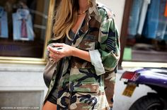 woodland camo army and military shirts make the perfect jacket to layer on top of girly hipster ensembles!  Adds a touch of tomboy and they're so comfy.