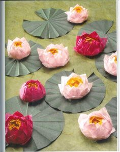 How To Knit: Origami lotus flower tutorial How To Knit: Origami Lotusblume Tutorial Diy Origami, Origami And Kirigami, Origami Paper Art, How To Make Origami, Diy Paper, Paper Crafts, Oragami, Origami Folding, Origami Tutorial