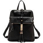 Multi-function Woven Leather Handbag  #backpack #bag #leather