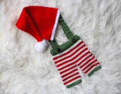 Baby Christmas Outfit Baby Photo PRop by SweetBabyJamesShop