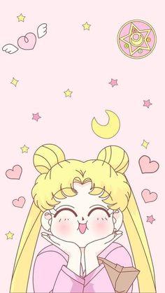 Usagi sailor moon wallpaper for phone Sailor Moon Crystal, Sailor Moon Fond, Arte Sailor Moon, Sailor Moon Usagi, Kawaii Wallpaper, Cartoon Wallpaper, Iphone Wallpaper, Hello Kitty Wallpaper, Trendy Wallpaper