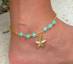 Tobilleras Ankle Jewelry, Hand Jewelry, Trendy Jewelry, Boho Jewelry, Beaded Jewelry, Jewelry Design, Fashion Jewelry, Jewellery, Diy Bracelets And Anklets