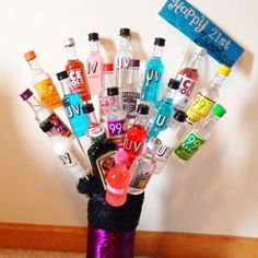 21st Birthday Bouquet! such a good idea