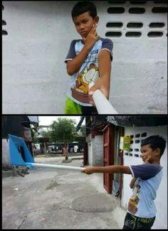 Selfie dl tong... Wkwkwk