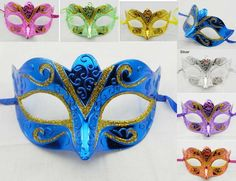 2013 fashion gold shining party mask venetian masquerade ball decoration wedding supply 200pcs mix color EMS free shipping TAOS on AliExpress.com. $150.00 for female guests
