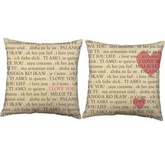 Love speaks EVERY language...celebrate this truth with our I Love You Languages Throw Pillows! They make decorating fun and easy! #roomcraft