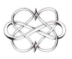 infinity double heart, want this as a tattoo