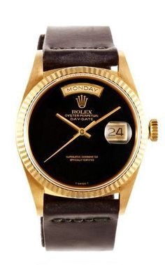 Take a peek - Rolex 18 K Yellow Gold Day Date President With Black Onyx Dial by CMT FINE WATCH AND JEWELRY ADVISORS Now Available on Moda Operandi - mens diamond watches, big face watches for men, name brand watches on sale *sponsored https://www.pinterest.com/watches_watch/ https://www.pinterest.com/explore/watch/ https://www.pinterest.com/watches_watch/ice-watch/ http://wwd.com/accessories-news/watches/ Use PIN10 for 10% off !:)
