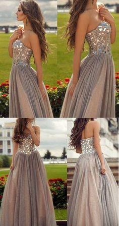 Sweetheart Prom Dress,Beaded Prom Dress,Custom Made Evening Dress