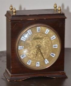 Kienzle Automatic Guilt Mantel Clock in Good Working Condition