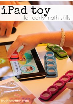ipad toy for early math skills: tiggly counts --> a new and innovative toy for the ipad! SO cool