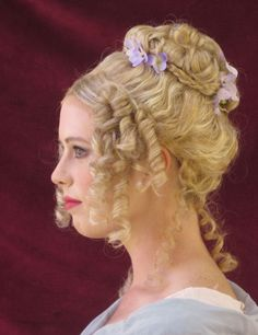 1800s Hairstyles, Civil War Hairstyles, Vintage Hairstyles For Long Hair, Historical Hairstyles, Edwardian Hairstyles, Braided Hairstyles, Wedding Hairstyles, 18th Century Wigs, 20s Hair
