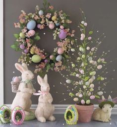 NEW RAZ Easter 26 in Easter Egg Tree in Clay Pot VT SOLD out at RAZ