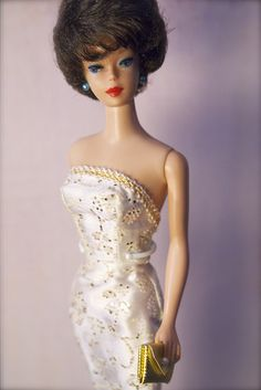 Barbie - Vintage Barbie - Brunette Bubblecut; I had this Barbie but my mom made her clothes