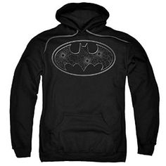 DC Batman Glass Hole Logo Pull Over Hoodie