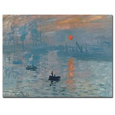 Claude Monet 'Impression Sunrise' Canvas Art - Overstock™ Shopping - Top Rated Trademark Fine Art Canvas