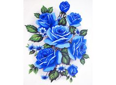 """Wonderful collection of coordinating blue roses. Order # Size # of Decals on Sheet Sheet Price 8122/A 8 1/2"""" X 4 1/2"""" 2 $ 8.50 8122/B 5 1/4"""" X 3"""" 4 $"""