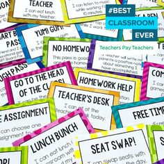 These reward coupons focus on rewarding students with privileges that make them feel special, increasing intrinsic motivation - making your classroom run much more smoothly! ‪#‎BestClassroomEver‬