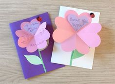 Mother's day heart shaped flower card [VIDEO] Source by ijaussaud Diy Crafts Hacks, Diy And Crafts, Montessori Activities, Easy Crafts For Kids, Mother And Father, Flower Cards, Diy Flowers, Craft Gifts, Heart Shapes