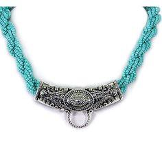 UnikLook Jewelry - Turquoise braided beaded Necklace set, $7.90 (http://uniklook.com/turquoise-braided-beaded-necklace-set/)