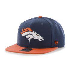 54691636 Denver Broncos Super Shot Two Tone Captain Light Navy 47 Brand Adjustable  Hat