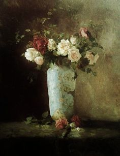 Still Life with flowers paint by the Belgian artist Evert Larock (1865-1901) - Style:Realism 1889