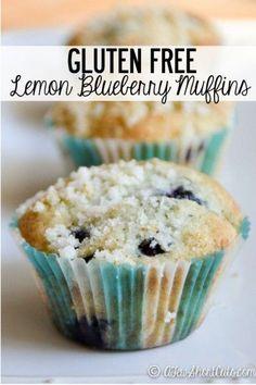Gluten free lemon blueberry muffins.