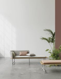 Danish designer Cecilie Manz have made furniture for the outside, that look like inside-furniture. In the collection Gloster you'll find a sofa, loungesofa, a chair, a bench and a table.