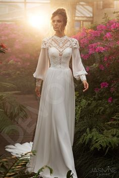 Individual size A-line silhouette Melanie wedding dress. | Etsy Modest Wedding Dresses, Bridal Dresses, Bridesmaid Dresses, Formal Dresses, Dream Dress, I Dress, Wedding Bride, Wedding Gowns, Muslim Wedding Gown