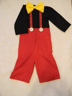 Mickey Mouse Costume on etsy. What a simple cute pattern