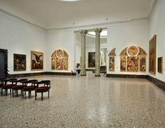 """Da sinistra: Gaudenzio Ferrari """"La Natività della Vergine"""", Marco d'Oggiono """"I tre arcangeli"""", Gaudenzio Ferrari """"Storie di Gioacchino e Anna"""" - """"Il martirio di Santa Caterina"""" - """"Madonna col Bambino""""."""