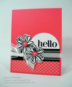 Flower Shop Hello, Mystery Hostess Winners! - DOstamping with Dawn, Stampin Up! Demonstrator