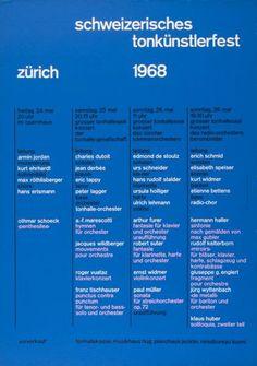 Schweizerisches Tonkünstlerfest Zürich 1968 - Tonhalle Zürich - (...)-Plakat
