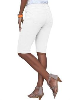 Invisible Stretch Bermuda Shorts from Denim 24/7 | Plus Size Latest Trends | Roamans