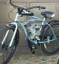 Used Brand New Motorized Bicycle for sale in Albuquerque - letgo Bycicle Vintage, Bycicle Woman Car Bike Rack, Bike Kit, Cafe Racer Honda, Cafe Racer Build, Moto Bike, Cafe Racer Motorcycle, Gas Powered Bicycle, Bicycle Engine Kit, Bicycles For Sale