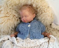 Blue Baby Sweater with Short Sleeves by broodbaby on Etsy, $42.00