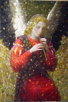 Victor Nizovtsev ( Viktor Nizovtsev ) Victor Nizovtsev is a masterful oil painter of theatrical figurative composition, fantasy, landscapes, and still life. Victor Nizovtsev, Seraph Angel, Seraphin, My Guardian Angel, Angel Pictures, Angels Among Us, Illustration, Wow Art, Angel Art