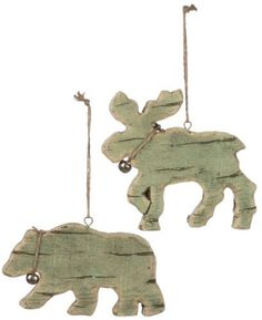 "Moose and Bear with Jingle Bell Ornaments 3"" to 5.25"" Price : $15.95 http://www.perfectlyfestive.com/Sullivans-Moose-Bear-Jingle-Ornaments/dp/B00FD69REQ"