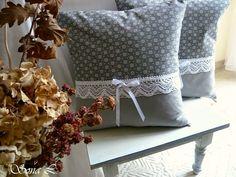 Náš domov, zahrada...: Nové povlaky v šedé kombinaci a ještě něco navíc...