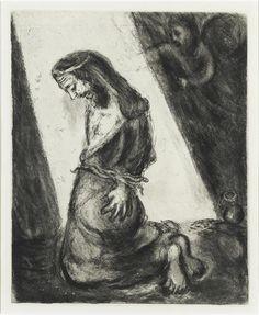 Jeremiah thrown into a prison by the people of King Zedekiah (Jeremiah, XXXVIII, 4 6) by @artistchagall #naïveart