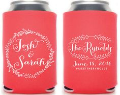 Wedding Can Coolers Monogrammed Can Coolers by SipHipHooray