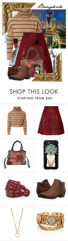 """""""Outfits For Travel - Bangkok, Thailand"""" by allyssister ❤ liked on Polyvore featuring Brunello Cucinelli, Antonio Berardi, NOVICA, Casetify, b.b.simon, Miz Mooz, A.P.C., Maison Mayle and Gucci"""