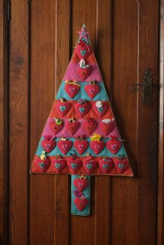 Advent Calendar project from Appliqué Angels and Hearts by Madeleine Millington