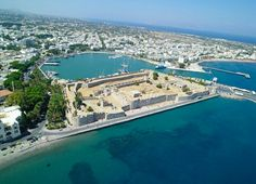 The harbor and town of kos