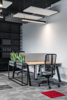 ELM PROJEKT STUDIO has completed the design of the HAMA offices, an international manufacturing company, located in Rabakowo, Poland. Interior Design Office Space, Open Office Design, Industrial Office Design, Workspace Design, Open Space Office, Loft Office, Office Spaces, Corporate Office Design, Corporate Offices