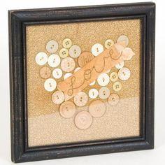 Glenna Jean Madison Button Heart Wall Art