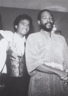 My two favorite entertainers: Michael Jackson with Marvin Gaye